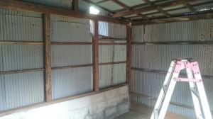 トタン倉庫解体2