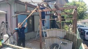 トタン倉庫解体4